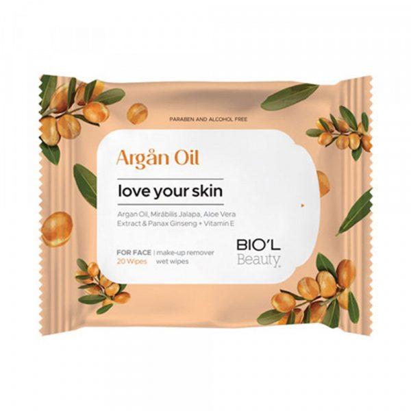 دستمال مرطوب Argan Oil بیول بسته ۲۰ عددی